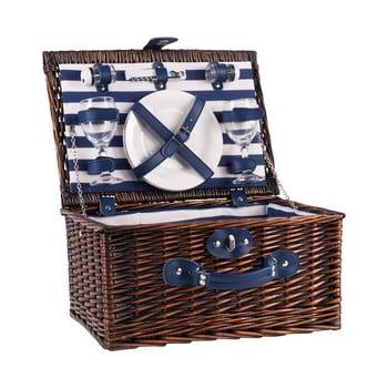 Coș picnic cu echipament pentru 2 persoane Navigate Basket poza bonami.ro