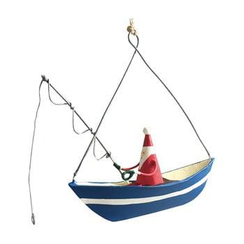 Decorațiune suspendată pentru Crăciun G-Bork Santa Fishing poza bonami.ro