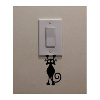 Autocolant decorativ de perete Catty, înălțime 12 cm bonami.ro