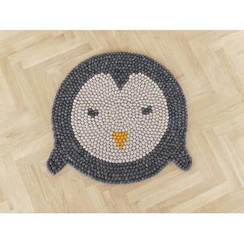 Covor cu bile din lână pentru camera copiilor Wooldot Ball Rugs Penguin, ⌀ 90 cm bonami.ro