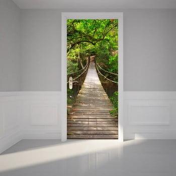 Autocolant adeziv pentru ușă Ambiance Suspension Bridge, 83 x 204 cm poza bonami.ro