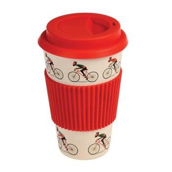 Cană de călătorie din bambus Rex London Le Bicycle, 400 ml, detalii roșii poza bonami.ro