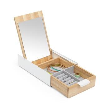 Cutie pentru bijuterii din lemn cu oglindă Umbra bonami.ro