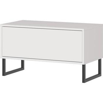 Bancă cu sertar Germania Madeo, lățime 75 cm, alb imagine
