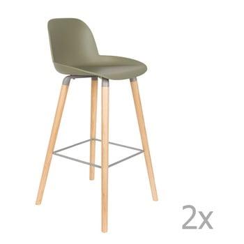 Set 2 scaune bar Zuiver Albert Kuip, înălțime scaun 75cm, verde imagine