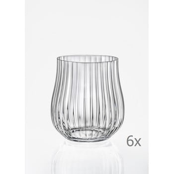 Set 6 pahare pentru whisky Crystalex Tulipa Optic, 350 ml bonami.ro