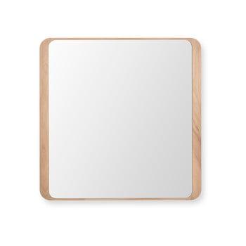 Oglindă de perete din lemn de stejar Gazzda Ena imagine