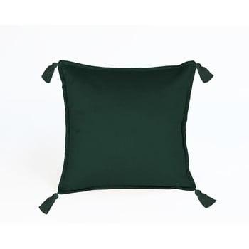 Pernă cu husă din catifea Velvet Atelier Borlas,45x45cm, verde închis bonami.ro