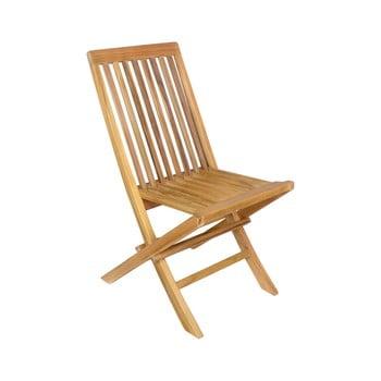 Set 2 scaune pliabile de grădină din lemn de tec Ezeis Sun imagine