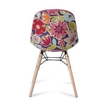 Scaun cu picioare din lemn de fag Furnhouse Sun, roz imagine