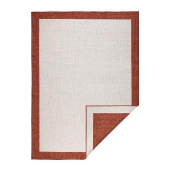 Covor adecvat pentru exterior Bougari Panama, 120 x 170 cm, roșu - crem poza bonami.ro