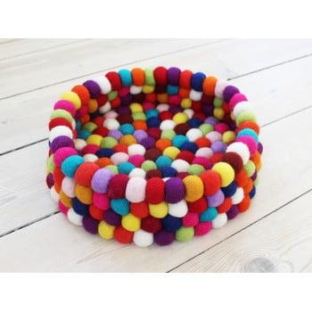 Coș depozitare, cu bile din lână Wooldot Ball Basket, ⌀ 28 cm, roșu închis bonami.ro