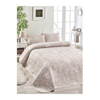 Set cuvertură pentru pat și 2 fețe de pernă EnLora Home Kralice Pink, 200 x 220 cm poza bonami.ro