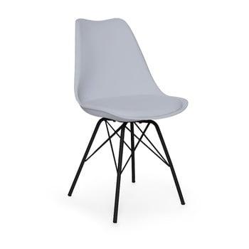 Scaun cu picioare negre din metal loomi.design Eco, gri poza bonami.ro