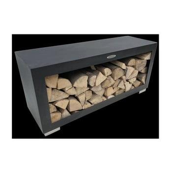 Cutie din oțel pentru depozitarea lemnelor Remundi, lățime 119 cm, negru bonami.ro