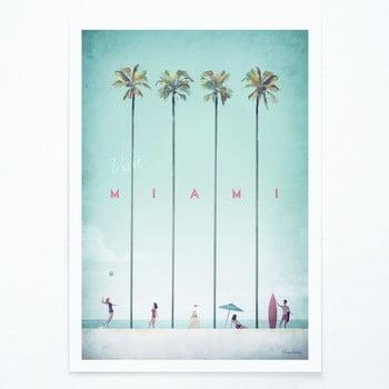 Poster Travelposter Miami, A2 poza bonami.ro