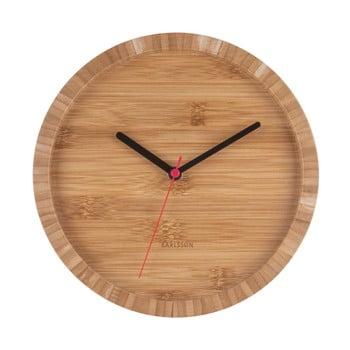 Ceas de perete din bambus Karlsson Tom, ⌀ 26 cm bonami.ro