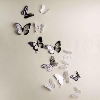 Set 18 autocolante 3D Ambiance Butterflies Chic bonami.ro