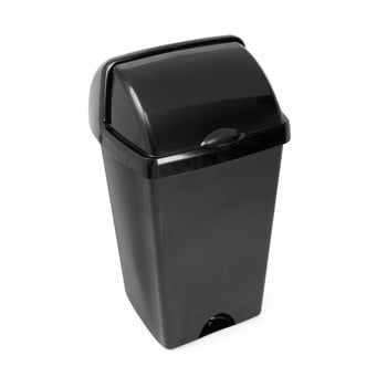 Coș de gunoi cu capac detașabil Addis, 38 x 34 x 68 cm, negru poza bonami.ro