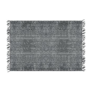 Covor din bumbac PT LIVING Washed Cotton, 140 x 200 cm, gri-negru imagine