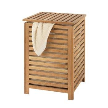 Coș din lemn de nuc pentru rufe Wenko Laundry Bin Norway, 65 l bonami.ro
