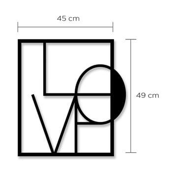 Decorațiune din metal pentru perete Love poza bonami.ro