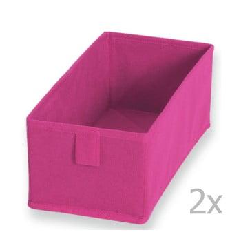 Set 2 cutii textile JOCCA , 28 x 13 cm, roz poza bonami.ro
