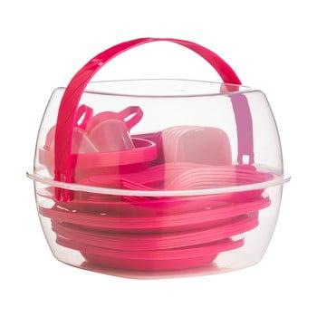 Set pentru picnic Premier Housewares Hot Pink, 51 piese poza bonami.ro