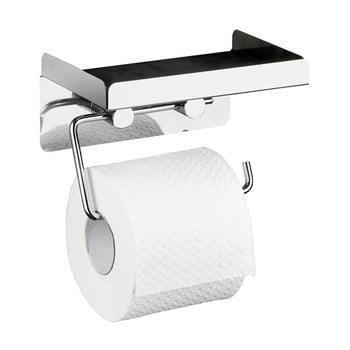 Suport autoadeziv pentru hârtia de toaletă 2 în 1 Wenko poza bonami.ro
