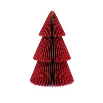 Decorațiune din hârtie pentru Crăciun, formă brad Only Natural, înălțime 22,5 cm, roșu poza bonami.ro