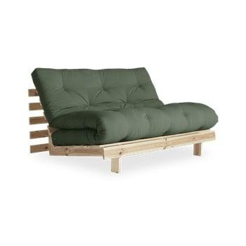 Canapea extensibilă Karup Design Roots Raw/Olive Green, verde imagine