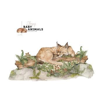 Autocolant de perete Dekornik My Little Wild Cat, 160 x 75 cm bonami.ro