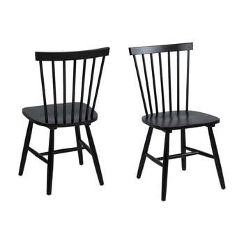 Set 2 scaune Actona Riano Dining Set, negru