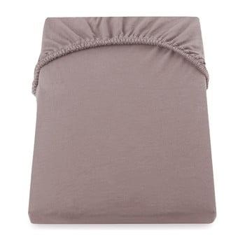 Cearșaf de pat cu elastic DecoKing Nephrite, 160–180 cm, maro-bej deschis poza bonami.ro