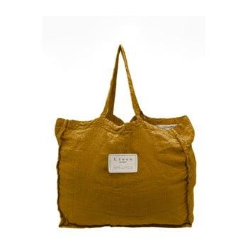 Geantă textilă Linen Mustard, lățime 50 cm poza bonami.ro