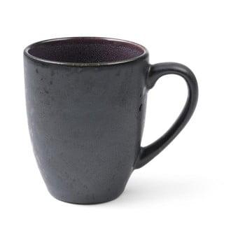 Cană cu toartă din ceramică și glazură interioară mov Bitz Mensa, 300 ml, negru bonami.ro