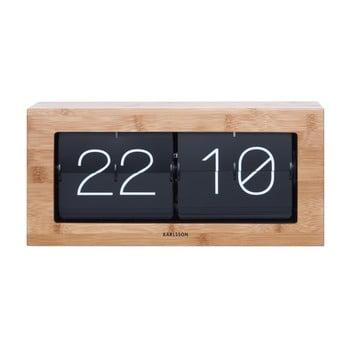 Ceas Karlsson Flip, 37 x 17,5 cm, decor lemn imagine