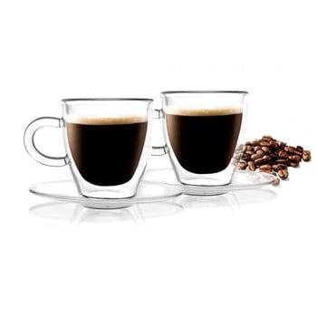 Set 2 cești cu perete dublu Vialli Design Amo Espresso, 50 ml bonami.ro