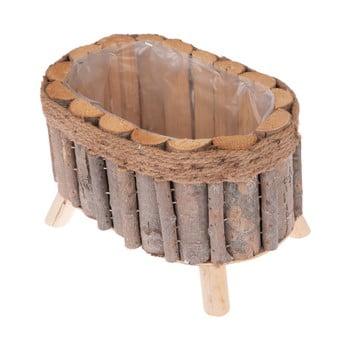 Cutie ovală din lemn cu picioare Dakls bonami.ro