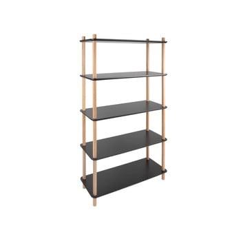 Etajeră cu picioare din bambus Leitmotiv Cabinet Simplicity, negru bonami.ro