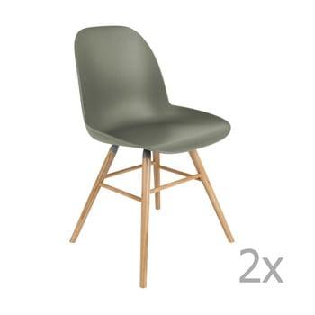 Set 2 scaune Zuiver Albert Kuip, verde imagine