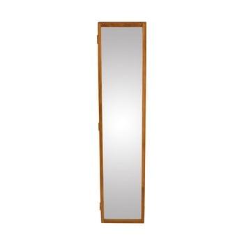 Oglindă de perete cu o cutie din lemn masiv de stejar pentru chei Canett Uno, 20x90cm bonami.ro