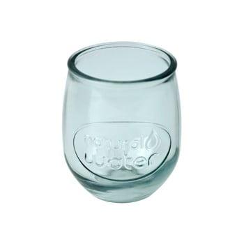 Pahar din sticlă reciclată Ego Dekor Water, 400 ml, albastru deschis poza bonami.ro