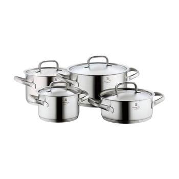 Set 4 oale din oțel inoxidabil cu capac WMF Cromargan® Gourmet Plus poza bonami.ro