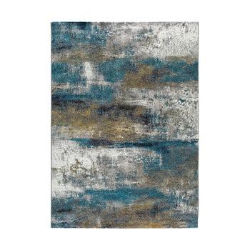 Covor Universal Kalia Abstract, 140 x 200 cm, albastru imagine