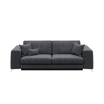 Canapea extensibilă cu 3 locuri devichy Rothe, gri închis bonami.ro