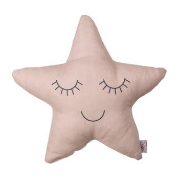 Pernă din amestec de bumbac pentru copii Mike&Co.NEWYORK Pillow Toy Star, 35 x 35 cm, roz poza bonami.ro