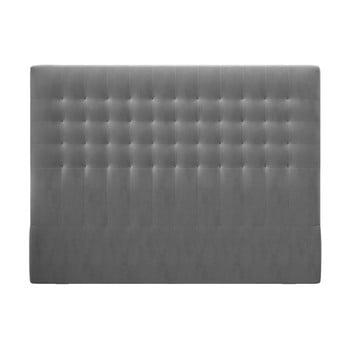 Tăblie pentru pat cu tapițerie de catifea Windsor & Co Sofas Apollo, 160x120cm, gri poza bonami.ro