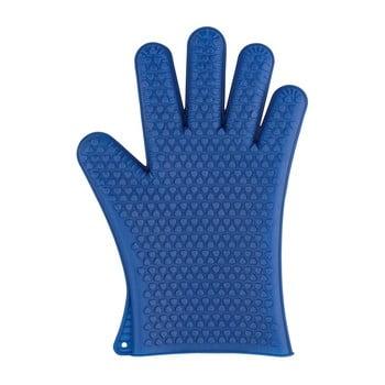 Mănuși din silicon pentru cuptor Wenko Glove, albastru bonami.ro