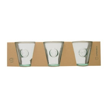 Set 3 pahare din sticlă reciclată Ego Dekor Authentic, 250 ml bonami.ro